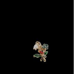 Brosa B-2 Ghiocel cu Trifoi si Gargarita