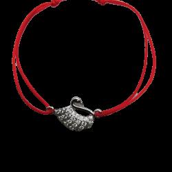 Bratara cu Nod Dublu Argint 925, Lebada cu Zirconii