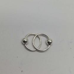 Cercei Argint 925 Cerc cu Biluta