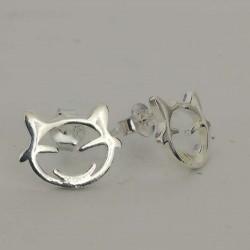 Cercei Argint 925 Cap de Pisica
