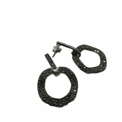 Cercei Argint 925 Cerc cu Marcasite