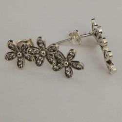 Cercei Argint 925 Flori cu Pietre