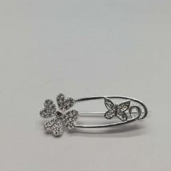 Brosa Argint 925 model Ac cu Trifoi si Fluture
