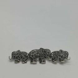 Brosa din Argint 925 Elefanti cu Marcasite