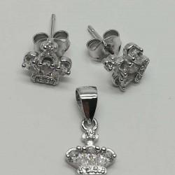 Set Argint 925 Coronita cu Zirconii