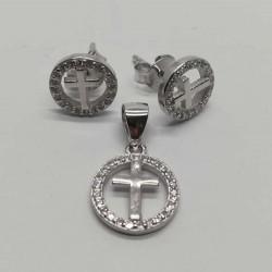 Set Argint 925 Cruce Incadrata