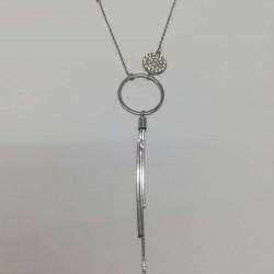 Colier Argint 925 cu 3 Cercuri Asimetrice