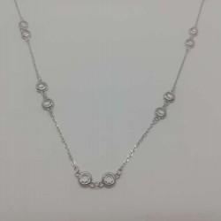 Colier Argint 925 cu Pietre, 44 cm, reglabil