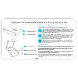 Sterilizator UV Alb pentru telefoane, cu functie difuzor aromatherapy si incarcare USB
