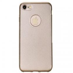 Husa Apple iPhone 6/6S Plus i-Zore Carbon Fiber Auriu