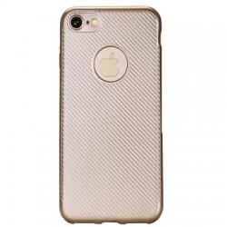 Husa Apple iPhone 7 i-Zore Carbon Fiber Auriu