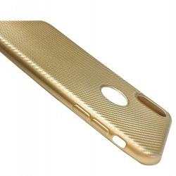 Husa Apple iPhone X i-Zore Carbon Fiber Auriu