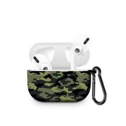 Husa AirPods Pro cu inel prindere camuflaj