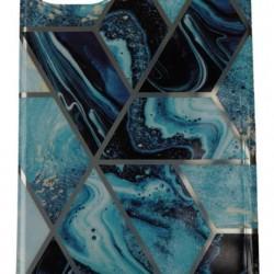 Husa Apple iPhone 11 Pro Max Soft IMD TPU Marble Geometric Albastru