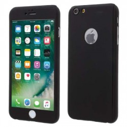 Husa Apple iPhone 11 Pro Max, Full Cover 360, Negru + Folie de protectie