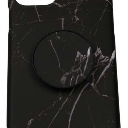 Husa Apple iPhone 11 Pro Max Soft IMD TPU Marble Negru cu Suport inclus