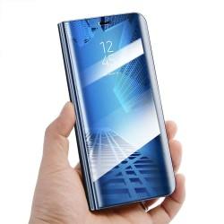 Husa Apple iPhone 7 Plus Flip Cover Oglinda Albastru