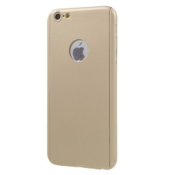 Husa Apple iPhone 6 Plus/6S Plus Full Cover 360 Auriu + Folie de protectie