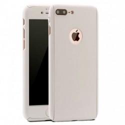 Husa Apple iPhone 7 Plus Full Cover 360 Argintiu + Folie de protectie